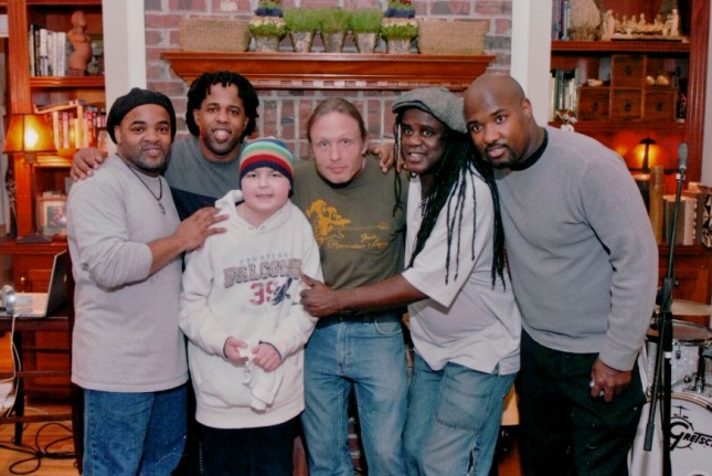 Benjamin with Victor Wooten and his band